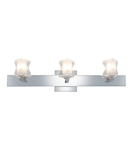 Access Lighting Glase 3 Light Crystal Chrome Wall/Vanity in Chrome with Inner Frosted Crystal Glass 23914-CH/FCL photo