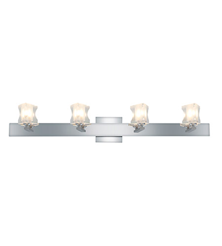 Access Lighting Glase 4 Light Crystal Chrome Wall/Vanity in Chrome with Inner Frosted Crystal Glass 23915-CH/FCL photo