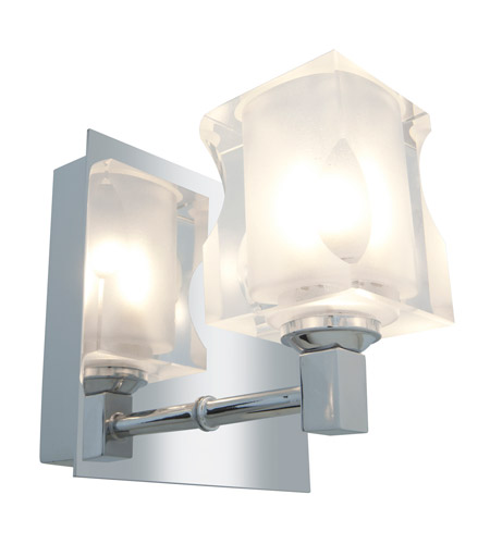 Access 23916-CH/FCL Glase 4 Light 5 inch Chrome Vanity Wall Light in 1 Light,  4.75 inch photo