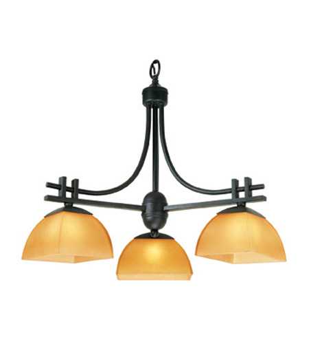 Access Lighting Ambrato 3 Light Chandelier in Antique Bronze 26123-ABRZ/AMB photo