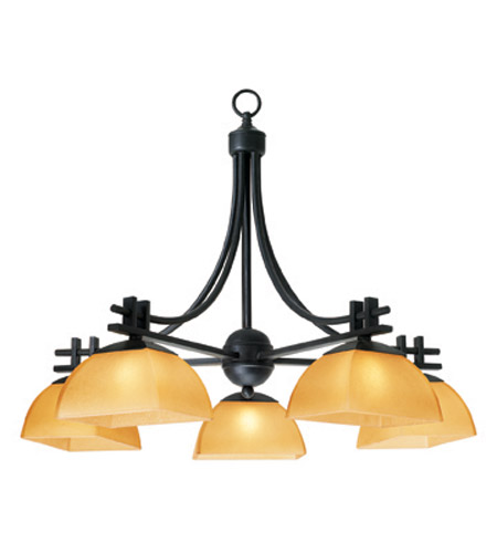 Access Lighting Ambrato 5 Light Chandelier in Antique Bronze 26125-ABRZ/AMB photo