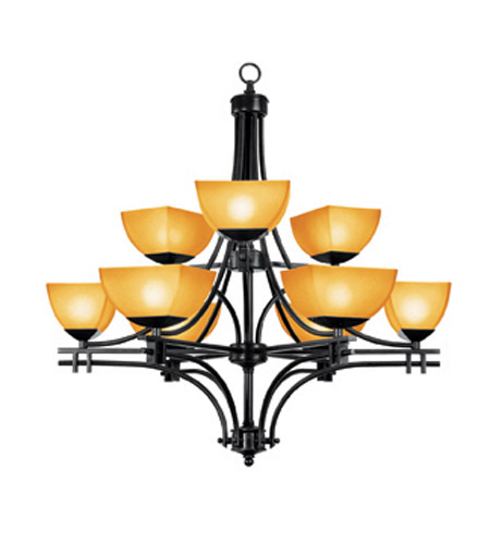 Access Lighting Ambrato 9 Light Chandelier in Antique Bronze 26132-ABRZ/AMB photo