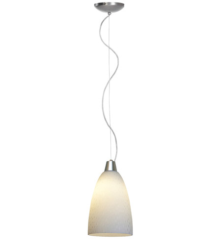 Access Lighting Ami Rain 1 Light Italian Glass Pendant in Brushed Steel 28003-BS/WRD photo