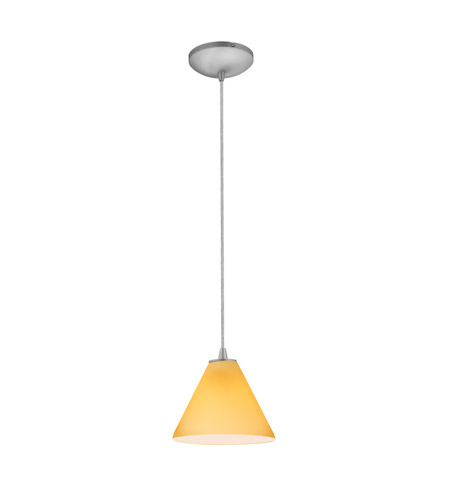 Access 28004-4C-BS/AMB Martini LED 7 inch Brushed Steel Pendant Ceiling Light in Amber photo