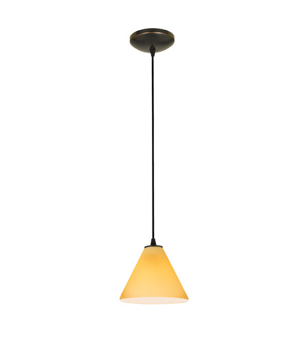 Access 28004-4C-ORB/AMB Martini LED 7 inch Oil Rubbed Bronze Pendant Ceiling Light in Amber photo
