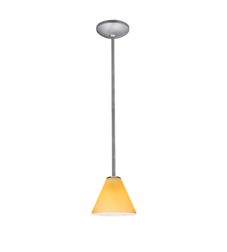 Access 28004-3R-BS/WHT Martini LED 7 inch Brushed Steel Pendant Ceiling Light in White photo