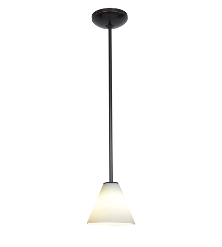 Access 28004-1R-ORB/WHT Janine 1 Light 7 inch Oil Rubbed Bronze Pendant Ceiling Light in White, Incandescent, Rod photo