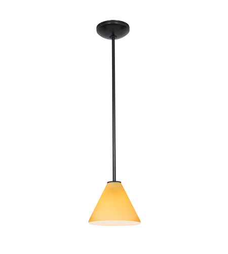 Access 28004-3R-ORB/RED Martini LED 7 inch Oil Rubbed Bronze Pendant Ceiling Light in Red photo