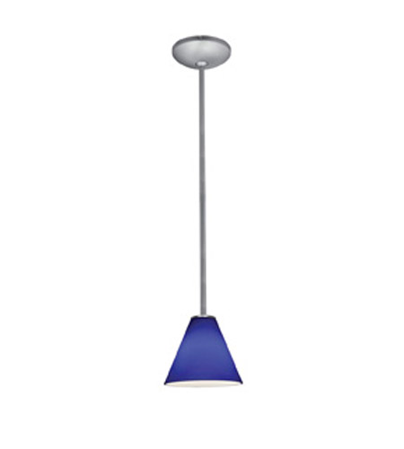 Access 28004-2R-BS/COB Julia 1 Light 7 inch Brushed Steel Pendant Ceiling Light in Cobalt, Fluorescent, Rod photo