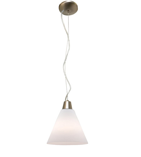 Access Lighting Ami Inari Silk 1 Light Maxi Pendant in Brushed Steel 28004-BS/WHT photo