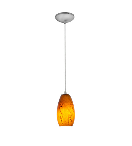 Access 28011-3C-BS/ASKY Merlot LED 4 inch Brushed Steel Pendant Ceiling Light in Amber Sky photo