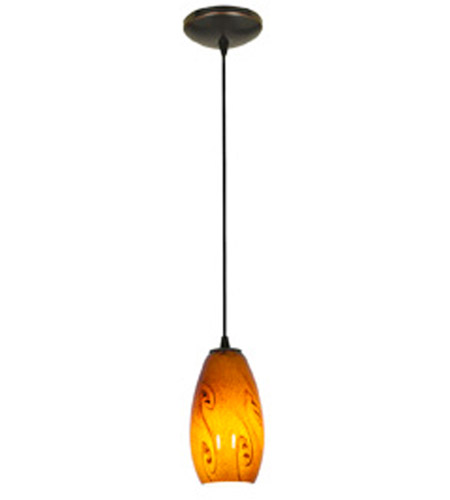 Access 28011-1C-ORB/ASKY Sydney 1 Light 4 inch Oil Rubbed Bronze Pendant Ceiling Light in Amber Sky, Incandescent, Cord photo