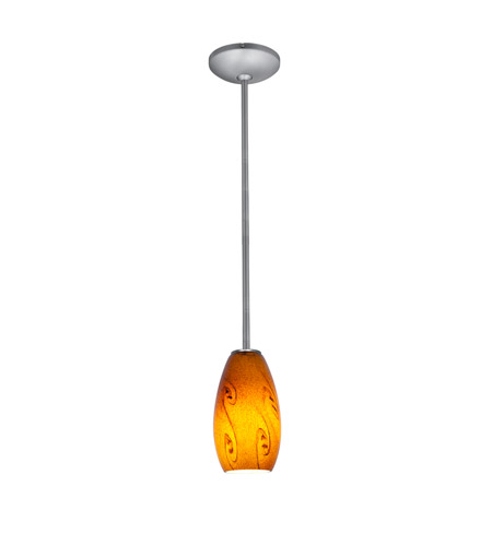 Access 28011-3R-BS/ASKY Merlot LED 4 inch Brushed Steel Pendant Ceiling Light in Amber Sky photo