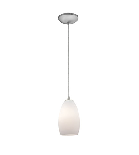 Access 28012-1C-BS/OPL Sydney 1 Light 5 inch Brushed Steel Pendant Ceiling Light in Opal, Incandescent, Cord photo