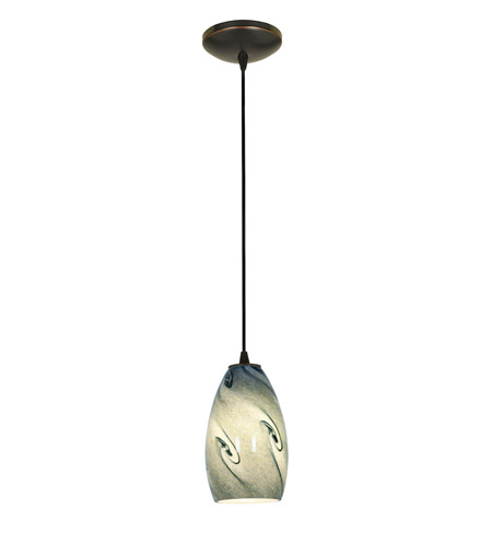 Access Lighting Sydney 1 Light Glass Pendant in Oil Rubbed Bronze with Blue  Sky Glass 28012-1C-ORB/BLUSKY - Access Lighting Sydney 1 Light Glass Pendant In Oil Rubbed Bronze