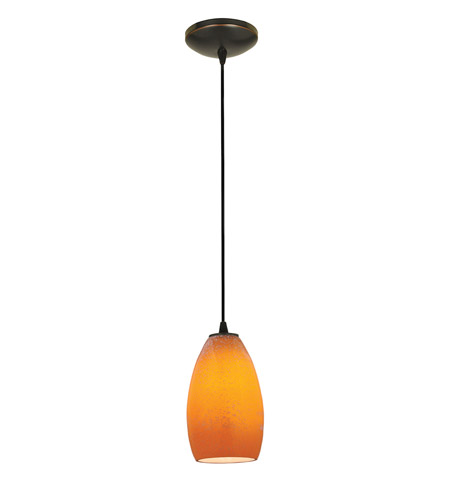 Access Lighting Sydney 1 Light Glass Pendant in Oil Rubbed Bronze with Maya Glass 28012-1C-ORB/MYA photo