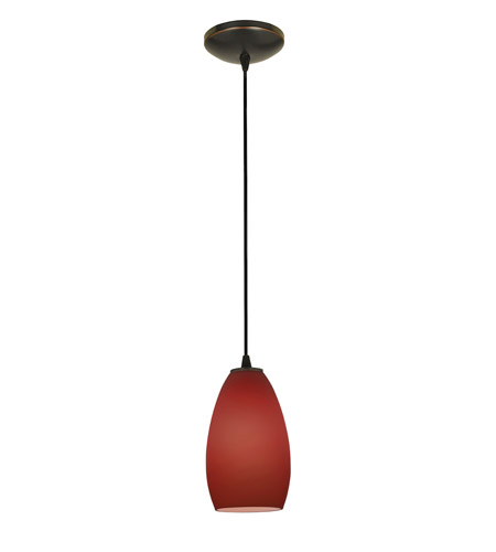 Access Lighting Sydney 1 Light Glass Pendant in Oil Rubbed Bronze with Plum Glass 28012-1C-ORB/PLM photo