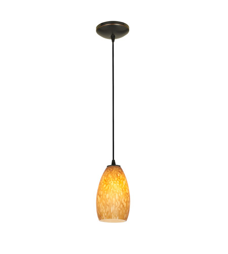 Access 28012-4C-ORB/OPL Champagne LED 5 inch Oil Rubbed Bronze Pendant Ceiling Light in Opal photo