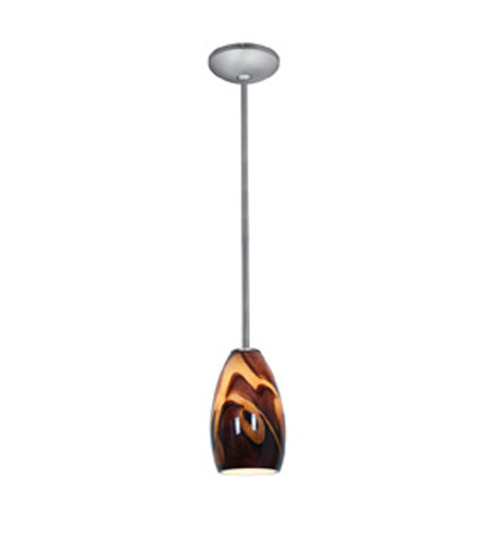 Access 28012-1R-BS/ICA Janine 1 Light 5 inch Brushed Steel Pendant Ceiling Light in Inca, Incandescent, Rod photo