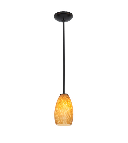 Access 28012-3R-ORB/MYA Champagne LED 5 inch Oil Rubbed Bronze Pendant Ceiling Light in Maya photo