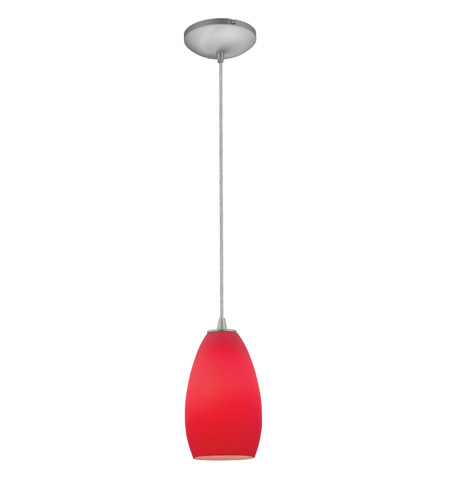 Access 28012-2C-BS/RED Tali 1 Light 5 inch Brushed Steel Pendant Ceiling Light in Red, Fluorescent, Cord photo