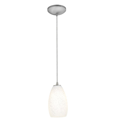 Access 28012-2C-BS/WHST Tali 1 Light 5 inch Brushed Steel Pendant Ceiling Light in White Stone, Fluorescent, Cord photo