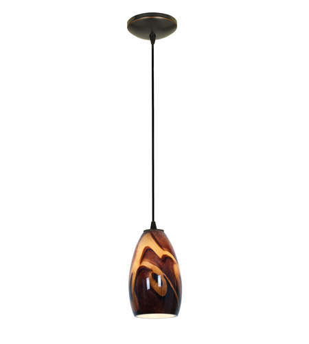 Access Lighting Tali 1 Light Glass Pendant in Oil Rubbed Bronze with Inca Glass 28012-2C-ORB/ICA photo