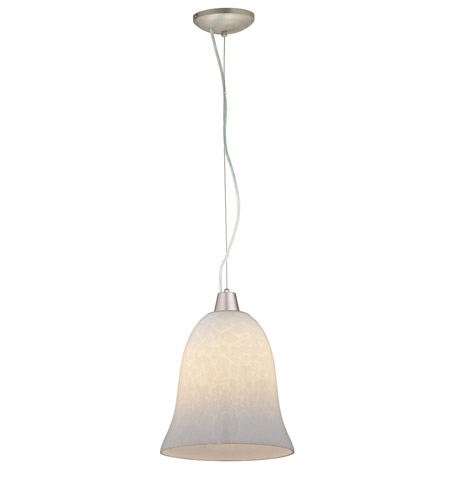 Access Lighting Ami Manhattan 1 Light Bell Glass Pendant in Brushed Steel 28014-BS/OPL photo