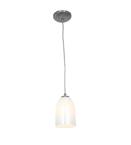 Access 28018-1C-BS/WWHT Sydney 1 Light 6 inch Brushed Steel Pendant Ceiling Light in Wicker White, Incandescent, Cord photo