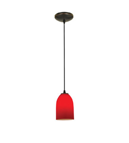 Access 28018-1C-ORB/RED Sydney 1 Light 6 inch Oil Rubbed Bronze Pendant Ceiling Light in Red, Incandescent, Cord photo