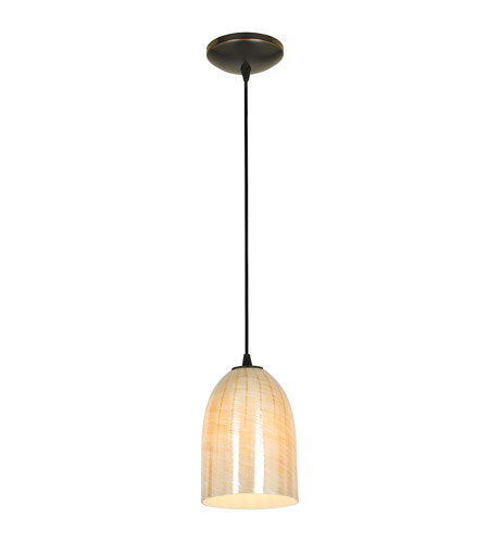 Access 28018-3C-ORB/WRED Bordeaux LED 5 inch Oil Rubbed Bronze Pendant Ceiling Light in Wicker Red photo