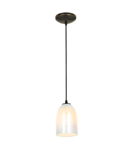 Access 28018-1C-ORB/WWHT Sydney 1 Light 6 inch Oil Rubbed Bronze Pendant Ceiling Light in Wicker White, Incandescent, Cord photo