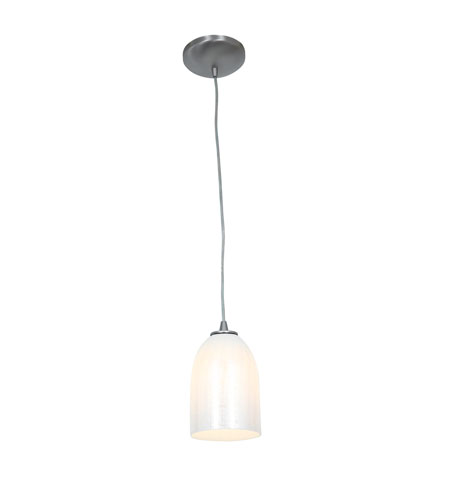 Access 28018-2C-BS/WWHT Tali 1 Light 5 inch Brushed Steel Pendant Ceiling Light in Wicker White, Fluorescent, Cord photo