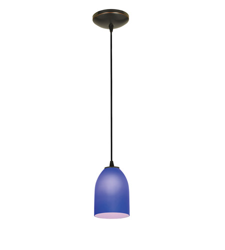 Access 28018-2C-ORB/COB Tali 1 Light 5 inch Oil Rubbed Bronze Pendant Ceiling Light in Cobalt, Fluorescent, Cord photo