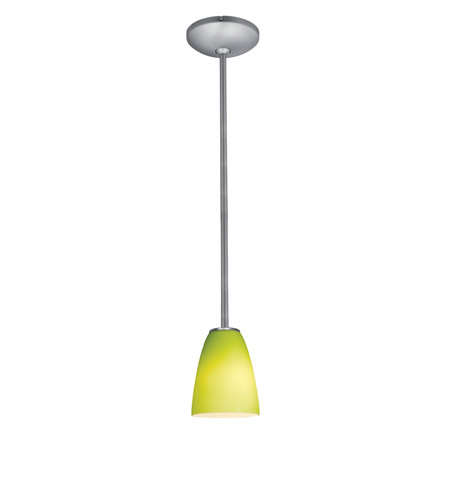 Access 28022-2R-BS/LGR Julia 1 Light 6 inch Brushed Steel Pendant Ceiling Light in Fluorescent, Rod photo
