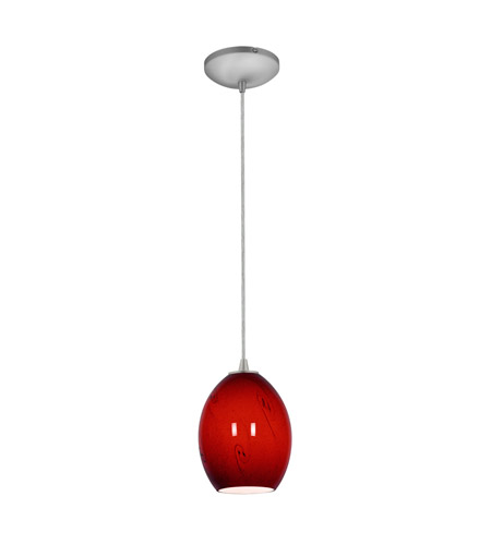 Access 28023-1C-BS/RUSKY Sydney 1 Light 6 inch Brushed Steel Pendant Ceiling Light in Red Sky, Incandescent, Cord photo