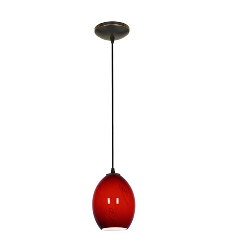 Access 28023-1C-ORB/RUSKY Sydney 1 Light 6 inch Oil Rubbed Bronze Pendant Ceiling Light in Red Sky, Incandescent, Cord photo
