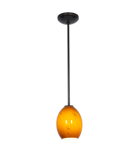 Access 28023-2R-ORB/ASKY Julia 1 Light 6 inch Oil Rubbed Bronze Pendant Ceiling Light in Amber Sky, Fluorescent, Rod photo