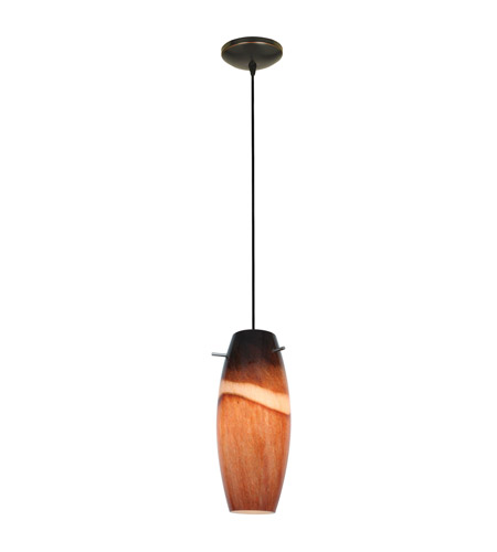 Access 28024-4C-ORB/AMS Cabernet LED 5 inch Oil Rubbed Bronze Pendant Ceiling Light in Amber Slate photo