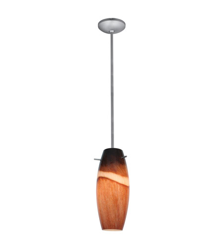 Access 28024-4R-BS/AMS Cabernet LED 5 inch Brushed Steel Pendant Ceiling Light in Amber Slate photo