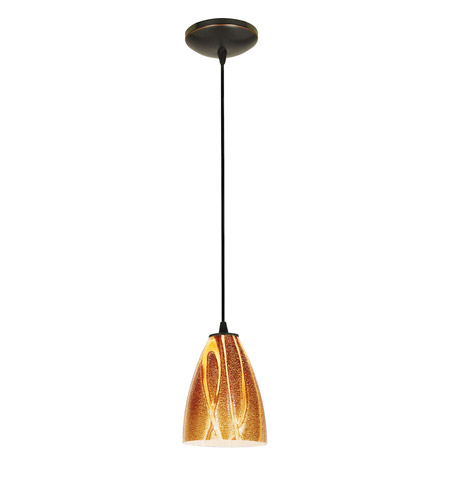 Access Lighting Tali 1 Light Italian Art Glass Pendant in Oil Rubbed Bronze with Amazon Glass 28025-2C-ORB/AMZ photo