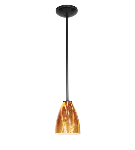 Access Lighting Julia 1 Light Italian Art Glass Pendant in Oil Rubbed Bronze with Amazon Glass 28025-2R-ORB/AMZ photo