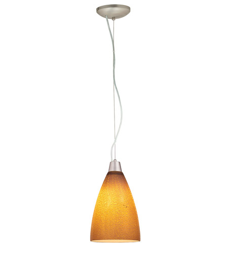 Access Lighting Ami 1 Light Maxi Pendant in Brushed Steel 28025-BS/SLA photo