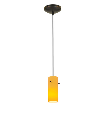 Access 28030-1C-ORB/AMB Sydney 1 Light 4 inch Oil Rubbed Bronze Pendant Ceiling Light in Amber, Incandescent, Cord photo
