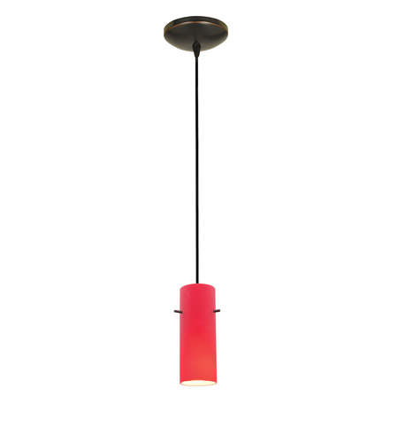 Access 28030-1C-ORB/RED Sydney 1 Light 4 inch Oil Rubbed Bronze Pendant Ceiling Light in Red, Incandescent, Cord photo