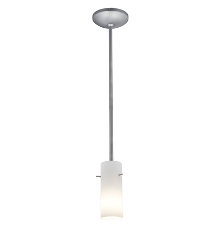 Access 28030-1R-BS/OPL Janine 1 Light 4 inch Brushed Steel Pendant Ceiling Light in Opal, Incandescent, Rod photo