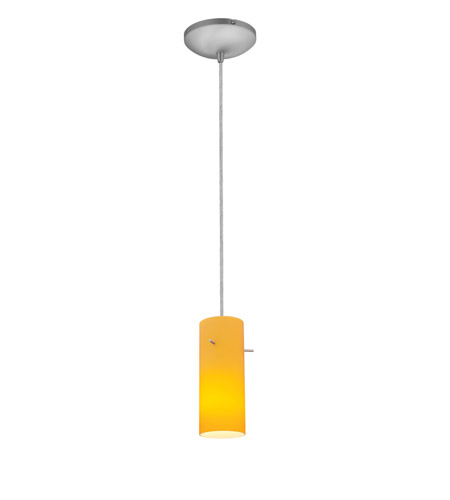 Access 28030-2C-BS/AMB Tali 1 Light 4 inch Brushed Steel Pendant Ceiling Light in Amber, Fluorescent, Cord photo