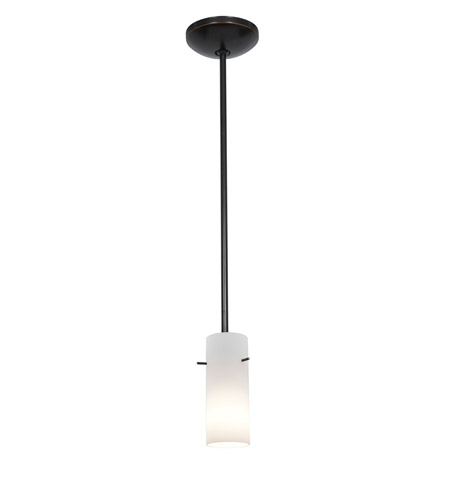 Access 28030-2R-ORB/OPL Julia 1 Light 4 inch Oil Rubbed Bronze Pendant Ceiling Light in Opal, Fluorescent, Rod photo