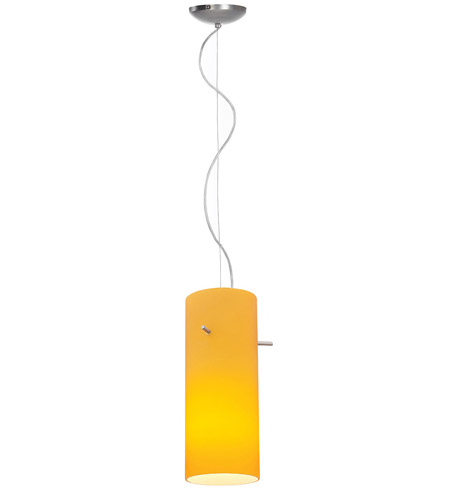 Access Lighting Ami 1 Light Maxi Pendant in Brushed Steel 28030-BS/AMB photo
