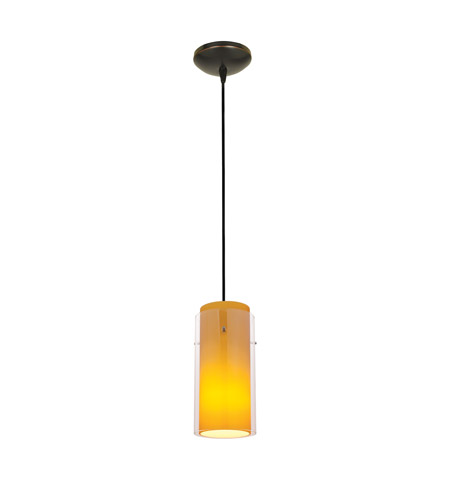 Access 28033-3C-ORB/CLRD Signature LED 5 inch Oil Rubbed Bronze Pendant Ceiling Light in Clear and Red photo